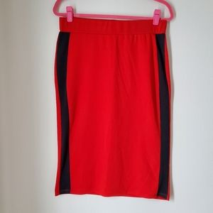 Zara red pencil skirt size large